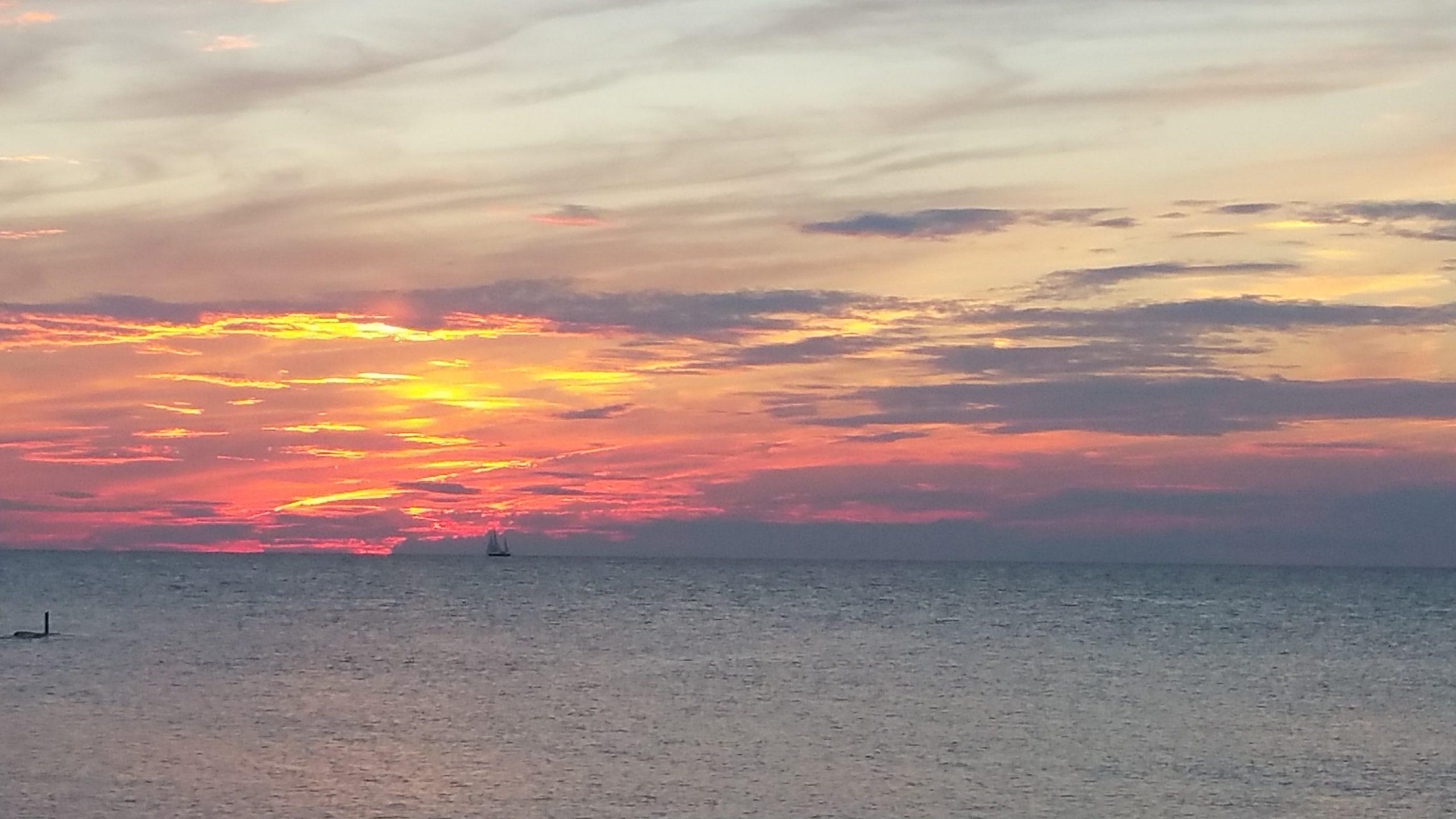 Sunset over Erie