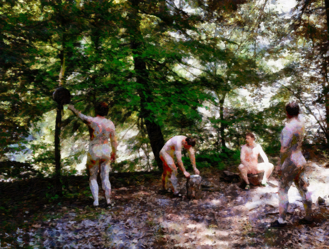 Camping Rough: four nude men in the woods